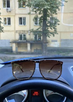 Крутые леопардовые, большие, квадратные солнцезащитные очки
