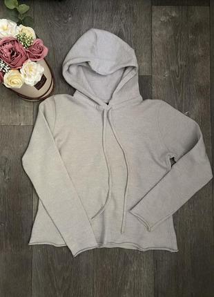 Кофта с капюшоном, укорочённый свитер с капюшоном