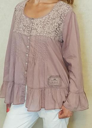 Роскошная блузка оверсайз jeanne d'arc living, дания