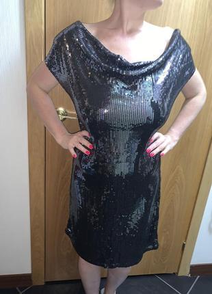 Чёрное платье вечернее платье платье короткое платье миди платье с пайетками блестящее платье