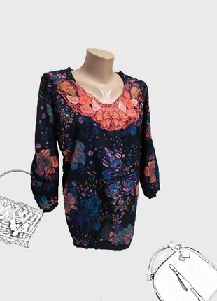 Модная блуза большого размера хлопковая