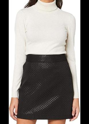 Шикарная новая мини юбка жакарда / чорна нова міні юбка new look