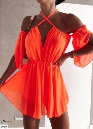 Платье сарафан шифон воздушный бюстье