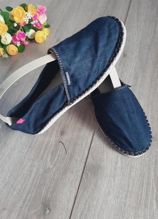 Эспадрильи джинс синие размер 40