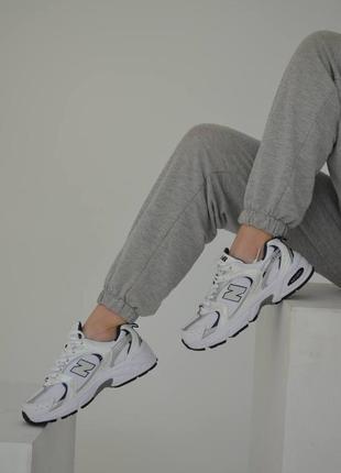 New balance 530 silver кроссовки нью беленс женские белые сильвер обувь взуття
