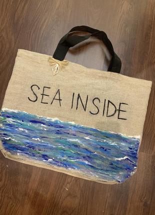 Эко сумка с ручной росписью