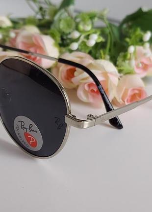 Солнцезащитные очки чёрные в серебре4 фото
