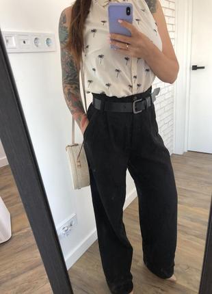 Летняя рубашка с пальмами