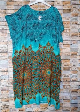 Платье с карманами из штапеля