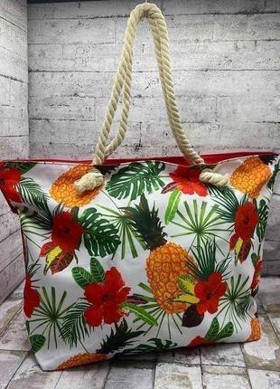"""Пляжная сумка """"tropic"""" 55х37х15"""