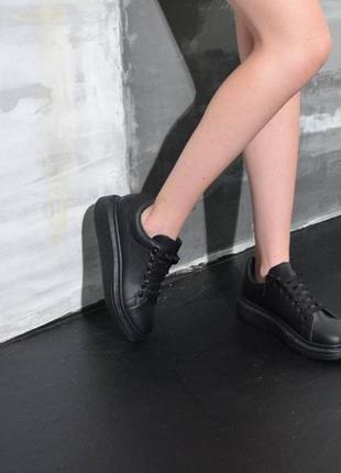 Черные кеды ,черные летние кроссовки на платформе!