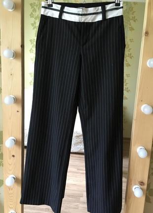 Штаны в полоску кюлоты палаццо брюки широкие