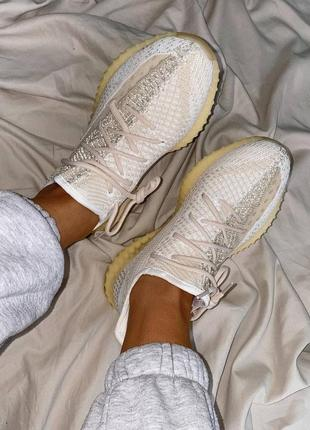 Женские кроссовки adidas yeezy 350 v2 natural (36-44р)