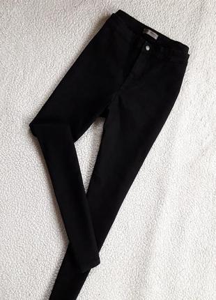 Укороченные джинсы скинни высокая посадка