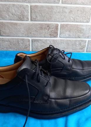 Кожанные туфли clarks 42р