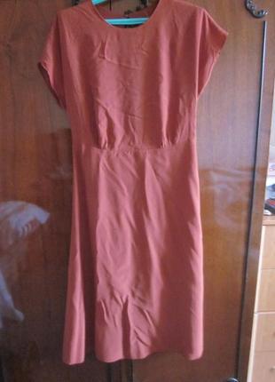 Фирменное платье other &stories  размер   s цвет кирпичный