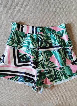Юбка шорты для девочки воланы  спідниця шорти для дівчинки prettylittlething s
