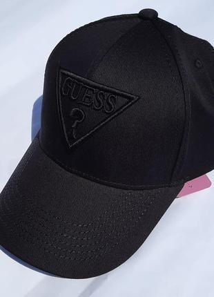 Кепка бейсболка в стиле гесс guess чорна черная
