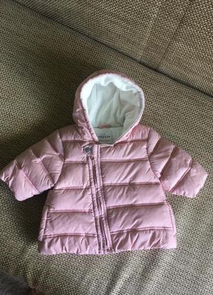 Тёплая курточка демисезонная куртка next 3-6 мес
