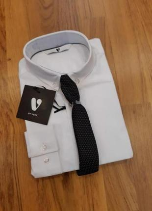 Рубашка george 8-9 л 128-134 рубашечка h&m белая с галстуком zara