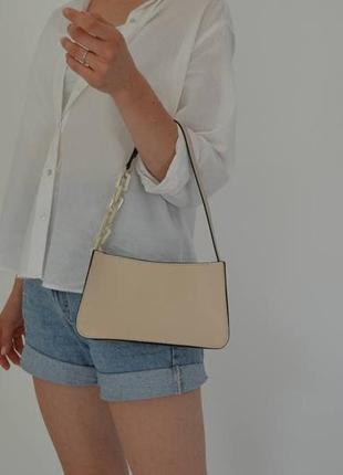 Женская маленькая кожаная сумочка ❤ с ремешком на плечо жіноча сумка натуральна шкіра