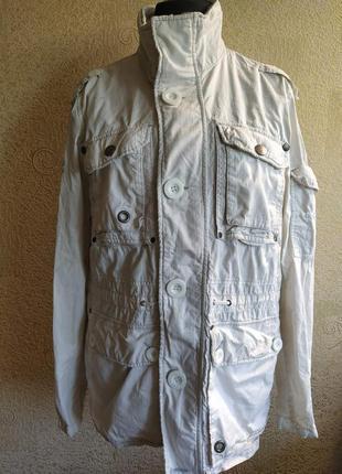 Куртка плащ ветровка белая женская7 фото