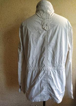 Куртка плащ ветровка белая женская2 фото