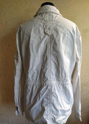 Куртка плащ ветровка белая женская8 фото