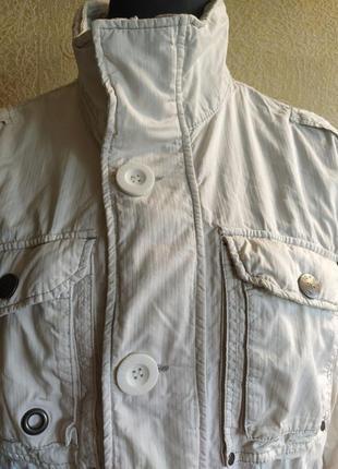 Куртка плащ ветровка белая женская6 фото