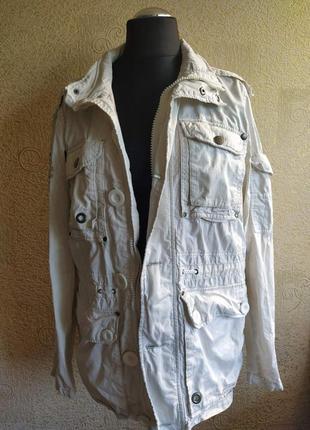 Куртка плащ ветровка белая женская1 фото