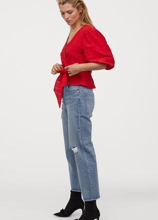Новая легкая натуральная блуза h&m. размер 34, подойдет на 364 фото