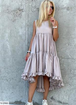 Платье летнее с рюшами