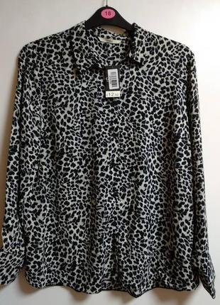 Шифоновая блуза в принт 18/52-54 размера сток