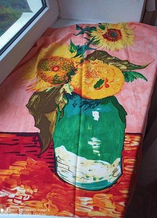 Подсолнухи van gog, винтажный платок