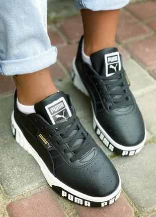Женские кроссовки puma чёрные