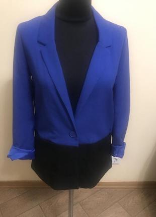 Пиджак свободного кроя без подкладки