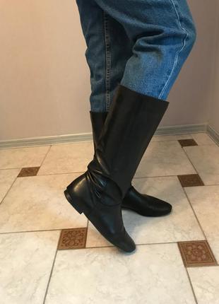 Продам кожаные сапоги minelli (italy)