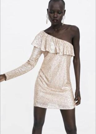 Сукня zara в пайєтках