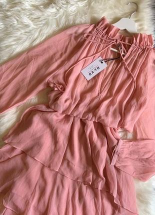 Платье шифон розовое 🌸🌸🌸