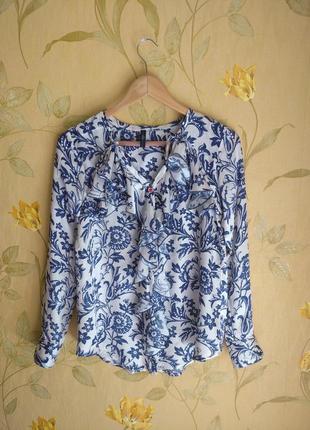 Шелковая блуза high use с рюшами шелк