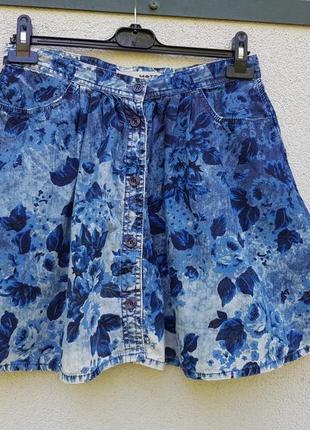 Брендовая стильная юбка на пуговицах topshop