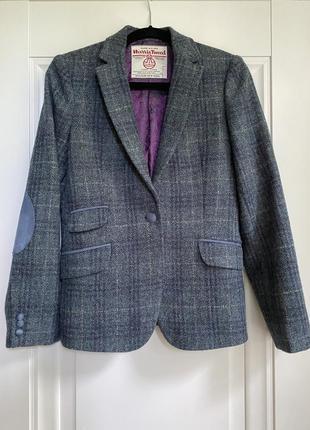 Твидовый тёплый пиджак из 💯 шерсти harris tweed  👌luxury