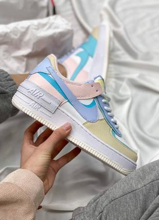 Nike air force shadow multicolor кроссовки найк женские форсы аир форс кеды обувь