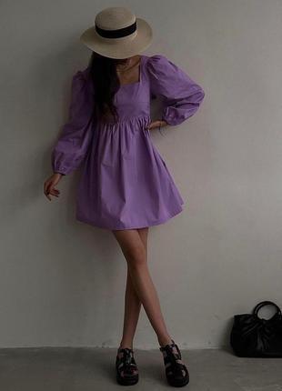 Платье с рукавами фонариками беби дол