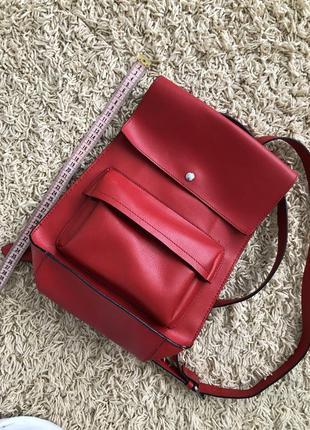 Червоний рюкзак zara