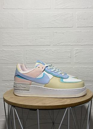 Nike air force shadow multicolor кроссовки найк женские аир форс кеды обувь