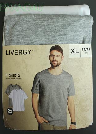 Базовые мужские футболки livergy, размер xl, белая и серая