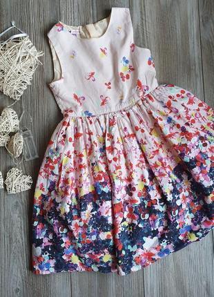 Платье пышное нарядное с фиалкамиjohn levis 5-6л