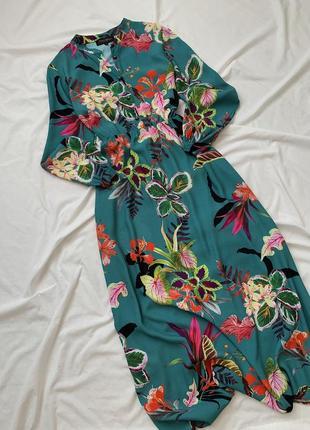 Длинное миди платье