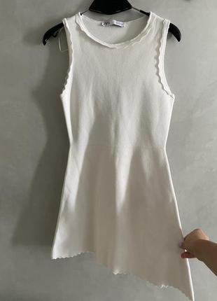 Базовое белое платье zara